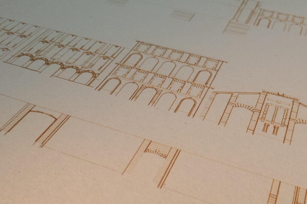 decoupe maquette architecture carton
