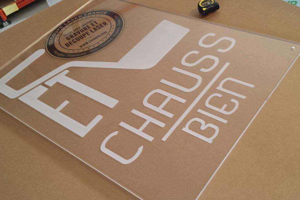 Gravure plexiglas incolore 10 mm